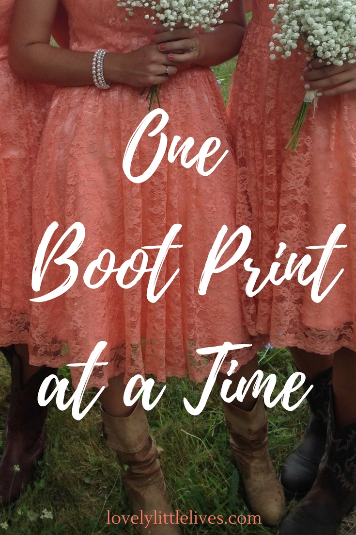 One Boot Print at a Time