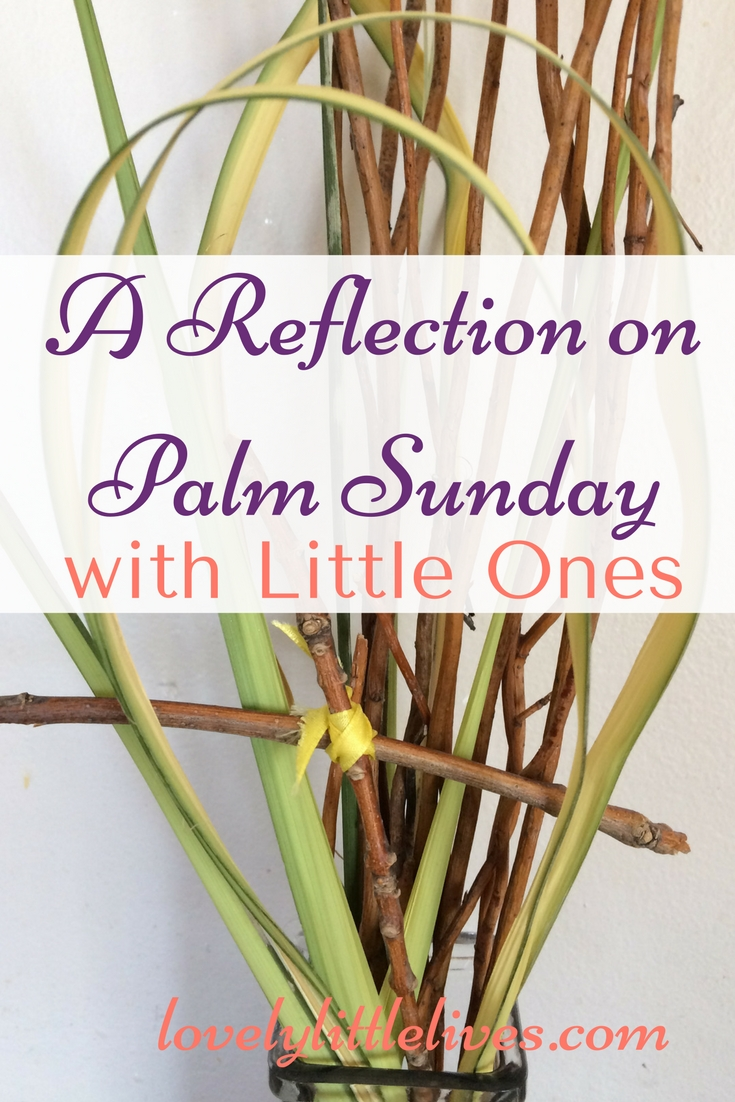 A reflection on palm sunday with little ones