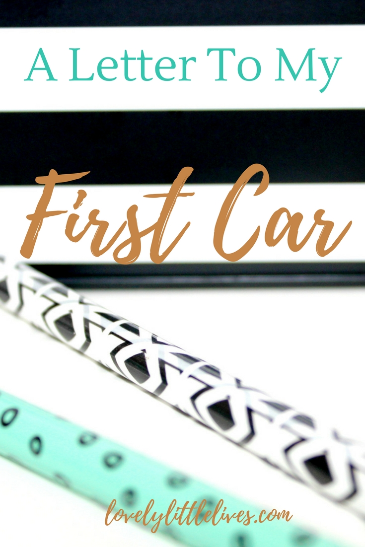 A Letter to My First Car