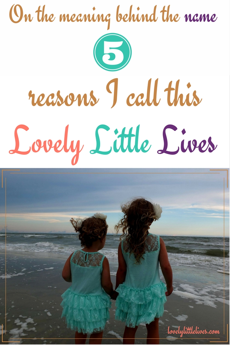 On the Meaning Behind the Name- 5 reasons I call this -Lovely Little Lives