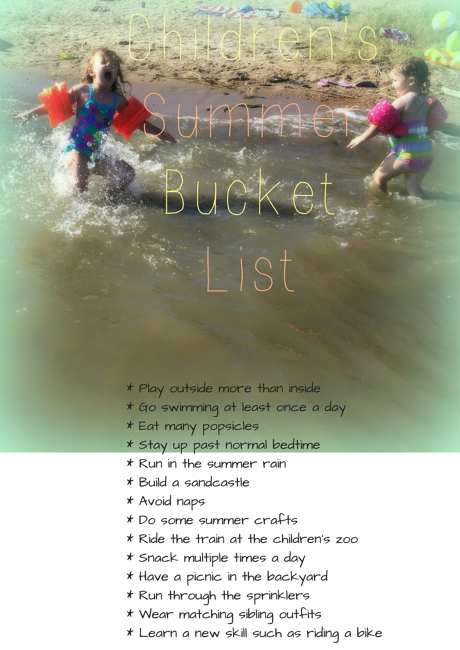 Children's Summer Bucket List