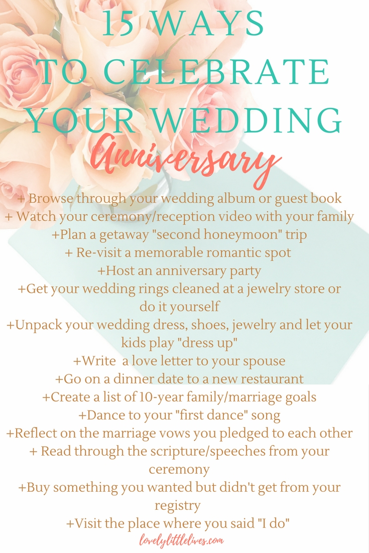 15 Ways to Celebrate your Wedding Anniversay