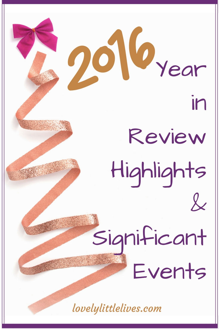 2016 year in review highlights and significant events