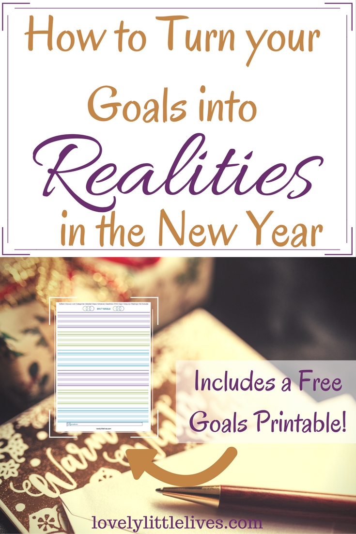 how to turn your goals into realities