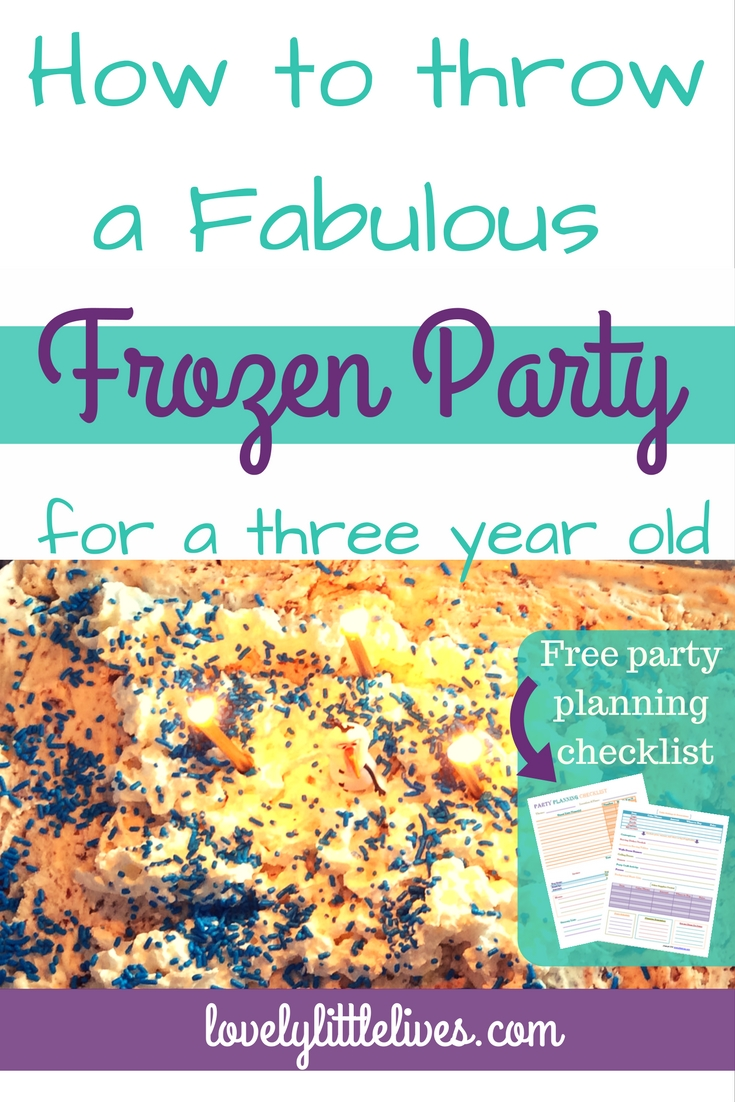 how to throw a frozen party