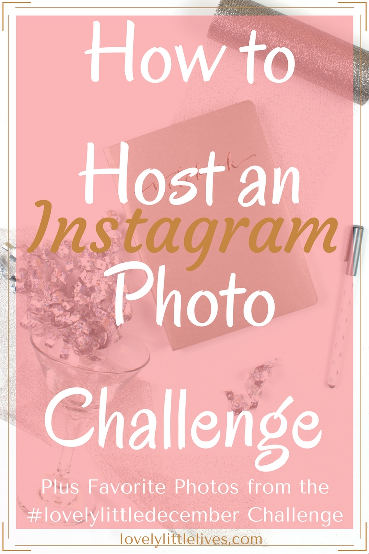 how to host a photo Instagram challenge