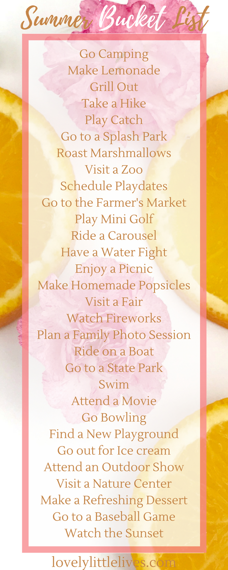 Grab a free summer bucket list to check off with your family! #summer #sumerbucketlist #familysummer