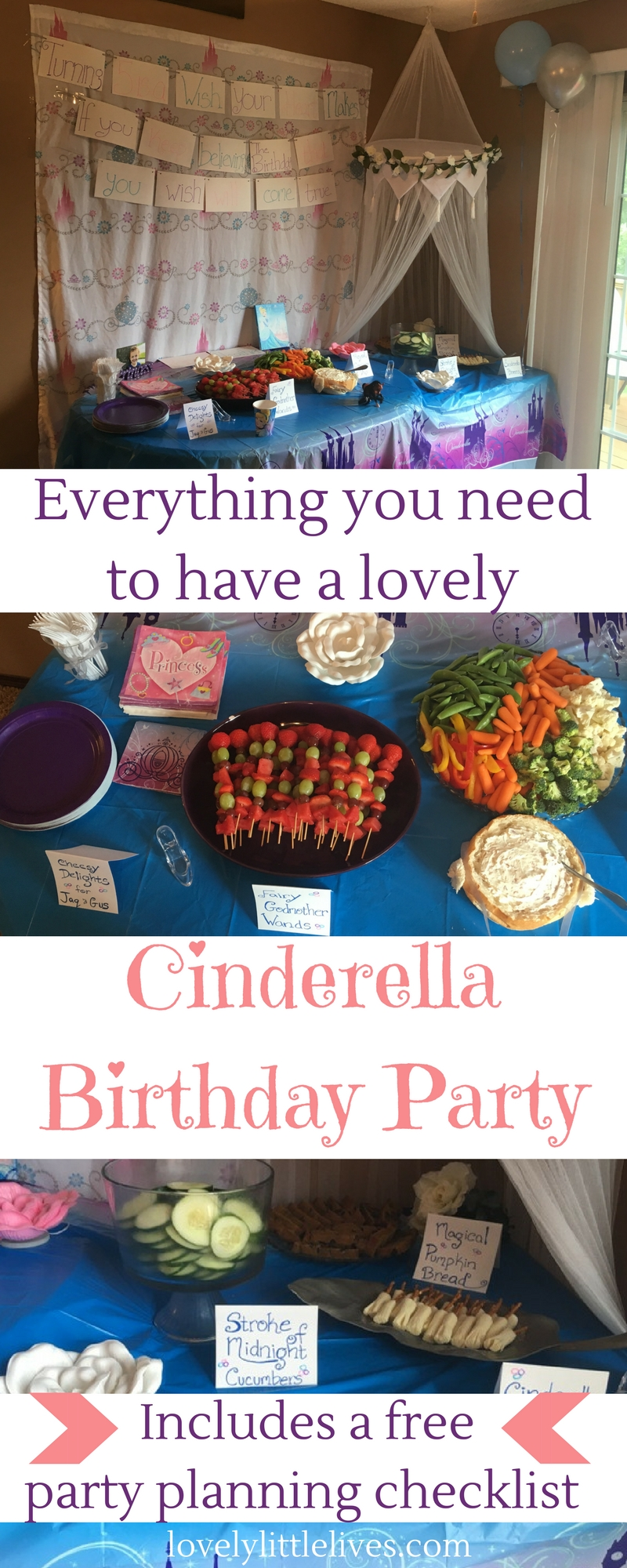 Everything you need to have a lovely Cinderella Birthday Party