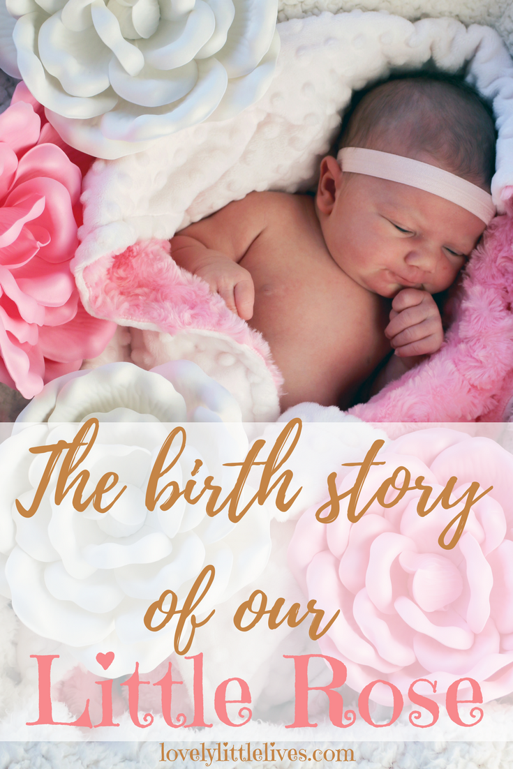 The Birth Story of Our Little Rose #birthstory #newbornphotography #newborn