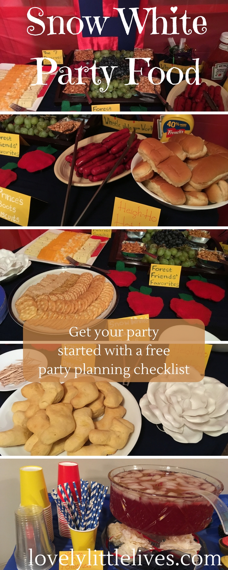 Snow White Party Food. | Snow White Birthday Party | Snow White Party Ideas | Snow White Birthday Party for a four year old | #snowwhite #princessbirthdayparty #snowwhitebirthdayparty