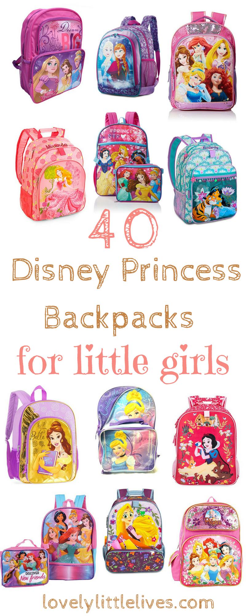 40 Disney Princess Backpacks for Little Girls on Amazon #backtoschoolshopping #amazonshopping #disneyprincess #disneyprincessbackpacks #backpacksforgirls
