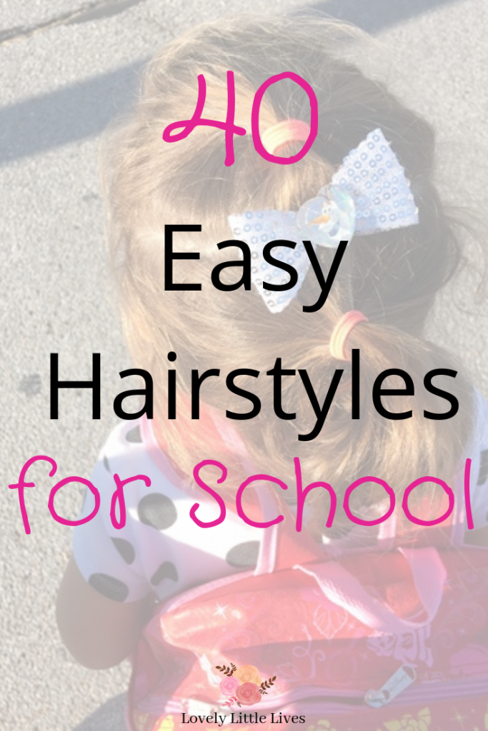 40 Easy Hairstyles for School. Easy hairstyles for school girls. Easy hairstyles for those mornings you are running late for school. 40 hairstyles for little girls. #schoolhairstyles #easyhairstylesforgirls #backtoschool #backtoschoolhairstyles