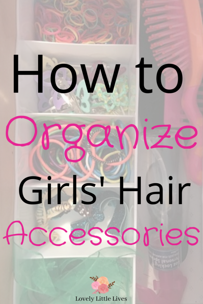 How to Organize Girls's Hair Accessories. Keep all your daughter's hair accessories organized and tidy with these simple organizing products. Tips for how to organize hair accessories in a drawer. #organizedmom #organizehairaccessories #girlshairstyles