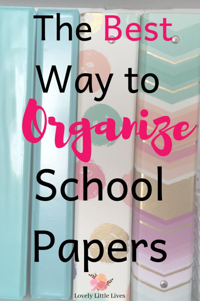 The best way to organize school papers